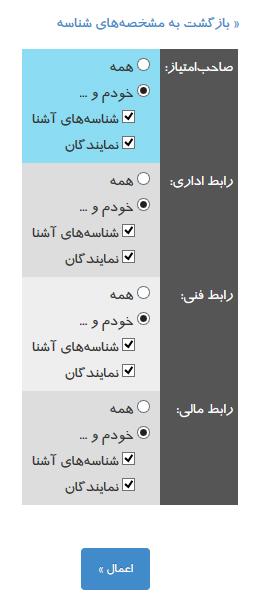نحوه انتخاب نمایندگان در nic.ir