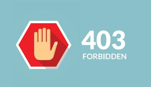 رفع خطای ارور 403