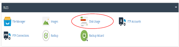 disk usage استفاده از دیسک در cpanel