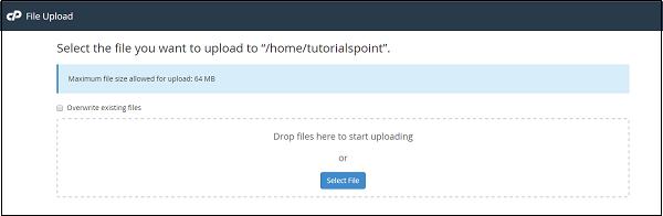 آپلود فایل در Cpanel