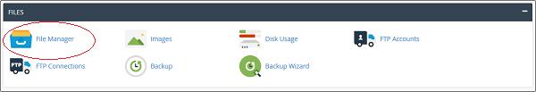 بخش فایلها در مدیریت فایل در cpanel