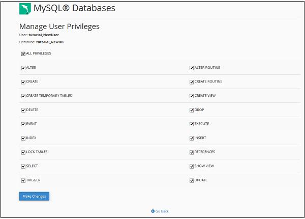 افزودن یوزر بانک اطلاعات هاست لینوکس cpanel