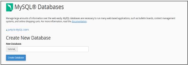 مدیریت پایگاه داده های MySQL در هاست cpanel