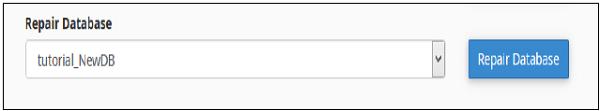 پایگاه داده تعمیرات هاست cpanel
