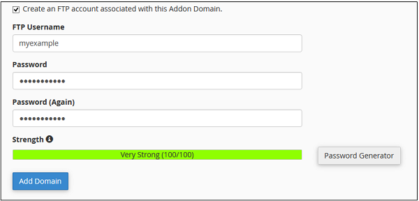 دامنه افزودنی (Addon Domain) در CPanel
