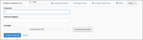 تغییر رمز عبور ایمیل هاست