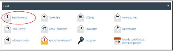 مدیریت آدرس های ایمیل در cpanel